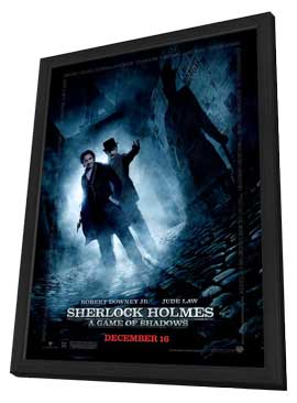Sherlock Holmes A Game of Shadows - 27 x 40 Movie Poster - Style E - in Deluxe Wood Frame
