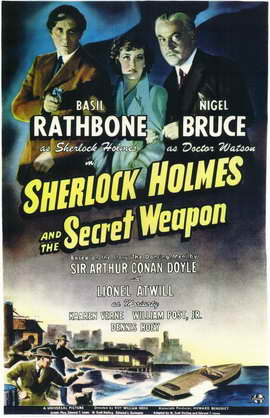 Sherlock Holmes and the Secret Weapon - 11 x 17 Movie Poster - Style A