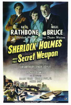 Sherlock Holmes and the Secret Weapon - 27 x 40 Movie Poster - Style A