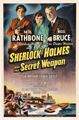 Sherlock Holmes and the Secret Weapon - 11 x 17 Movie Poster - Style B