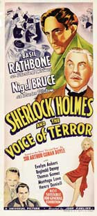 Sherlock Holmes: The Voice of Terror - 14 x 36 Movie Poster - Insert Style A