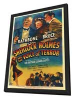 Sherlock Holmes: The Voice of Terror - 27 x 40 Movie Poster - Style A - in Deluxe Wood Frame