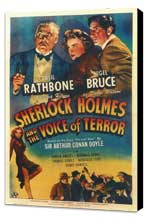 Sherlock Holmes: The Voice of Terror - 11 x 17 Movie Poster - Style A - Museum Wrapped Canvas