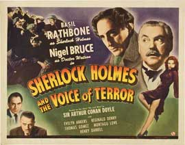 Sherlock Holmes: The Voice of Terror - 22 x 28 Movie Poster - Half Sheet Style A