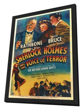 Sherlock Holmes: The Voice of Terror - 11 x 17 Movie Poster - Style A - in Deluxe Wood Frame