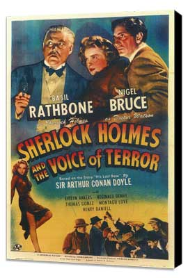 Sherlock Holmes: The Voice of Terror - 27 x 40 Movie Poster - Style A - Museum Wrapped Canvas