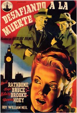 Sherlock Holmes Faces Death - 11 x 17 Movie Poster - Spanish Style A