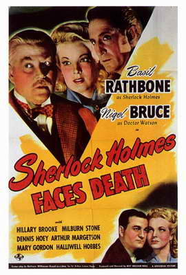 Sherlock Holmes Faces Death - 27 x 40 Movie Poster - Style A