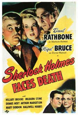 Sherlock Holmes Faces Death - 27 x 40 Movie Poster - Style B