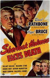 Sherlock Holmes Faces Death - 43 x 62 Movie Poster - Bus Shelter Style A