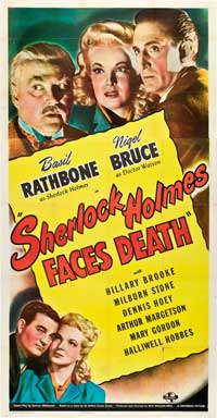 Sherlock Holmes Faces Death - 20 x 40 Movie Poster - Style A