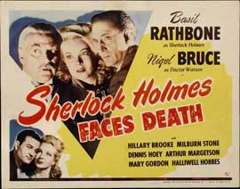 Sherlock Holmes Faces Death - 22 x 28 Movie Poster - Half Sheet Style A