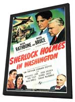 Sherlock Holmes in Washington - 11 x 17 Movie Poster - Style A - in Deluxe Wood Frame