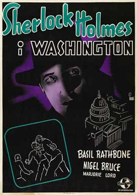 Sherlock Holmes in Washington - 11 x 17 Movie Poster - Swedish Style A