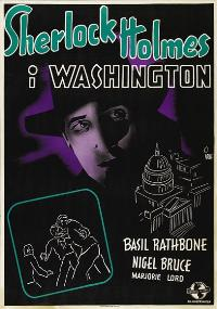 Sherlock Holmes in Washington - 27 x 40 Movie Poster - Swedish Style A
