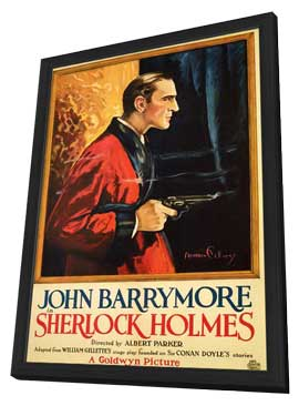 Sherlock Holmes - 11 x 17 Movie Poster - Style B - in Deluxe Wood Frame