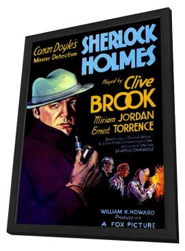 Sherlock Holmes - 11 x 17 Movie Poster - Style A - in Deluxe Wood Frame