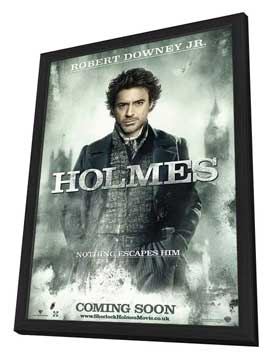Sherlock Holmes - 11 x 17 Movie Poster - UK Style A - in Deluxe Wood Frame