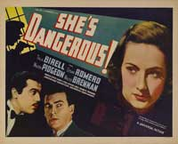 She's Dangerous - 22 x 28 Movie Poster - Half Sheet Style A