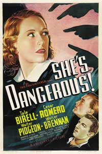 She's Dangerous - 27 x 40 Movie Poster - Style A