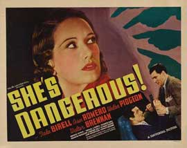 She's Dangerous - 22 x 28 Movie Poster - Half Sheet Style B