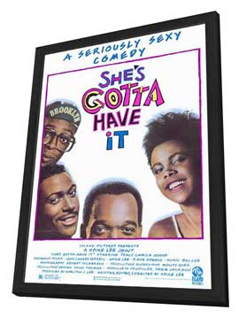 She's Gotta Have It - 27 x 40 Movie Poster - Style A - in Deluxe Wood Frame