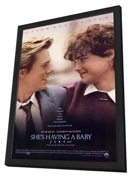 She's Having a Baby - 11 x 17 Movie Poster - Style A - in Deluxe Wood Frame
