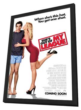 She's Out of My League - 27 x 40 Movie Poster - Style B - in Deluxe Wood Frame