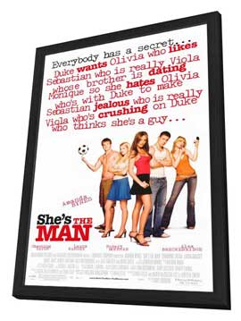 She's the Man - 11 x 17 Movie Poster - Style A - in Deluxe Wood Frame