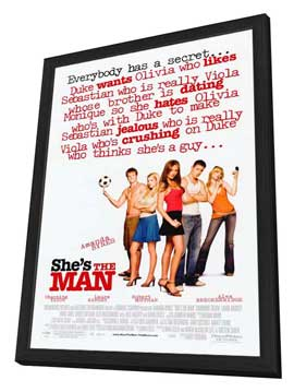 She's the Man - 27 x 40 Movie Poster - Style A - in Deluxe Wood Frame