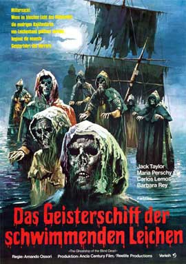 Ship of Zombies - 27 x 40 Movie Poster - German Style A