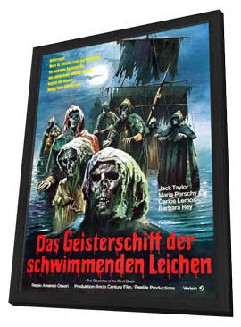 Ship of Zombies - 11 x 17 Movie Poster - German Style A - in Deluxe Wood Frame