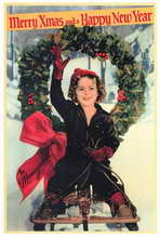 Shirley Temple Christmas Greeting - 27 x 40 Movie Poster - Style A