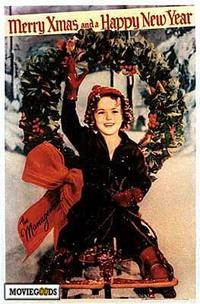 Shirley Temple Christmas Greeting - 43 x 62 Movie Poster - Bus Shelter Style A