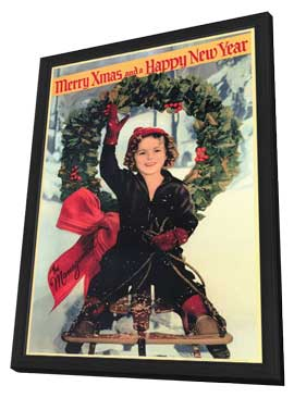 Shirley Temple Christmas Greeting - 11 x 17 Movie Poster - Style A - in Deluxe Wood Frame