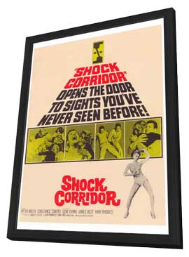 Shock Corridor - 11 x 17 Movie Poster - Style A - in Deluxe Wood Frame