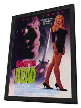 Shock 'Em Dead - 27 x 40 Movie Poster - Style A - in Deluxe Wood Frame