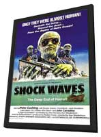 Shock Waves - 11 x 17 Movie Poster - Style A - in Deluxe Wood Frame