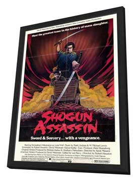 Shogun Assassin - 27 x 40 Movie Poster - Style A - in Deluxe Wood Frame
