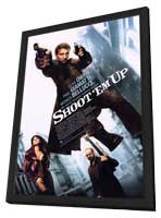 Shoot 'Em Up - 11 x 17 Movie Poster - Style A - in Deluxe Wood Frame