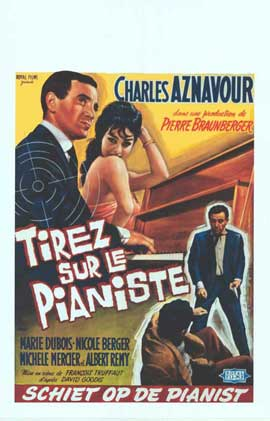 Shoot the Piano Player - 14 x 22 Movie Poster - Belgian Style A
