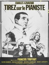 Shoot the Piano Player - 27 x 40 Movie Poster - French Style B