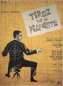 Shoot the Piano Player - 11 x 17 Movie Poster - French Style C