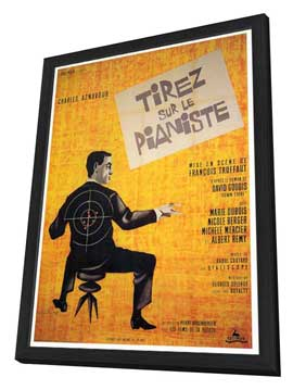 Shoot the Piano Player - 27 x 40 Movie Poster - Foreign - Style A - in Deluxe Wood Frame