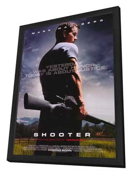 Shooter - 11 x 17 Movie Poster - Style A - in Deluxe Wood Frame