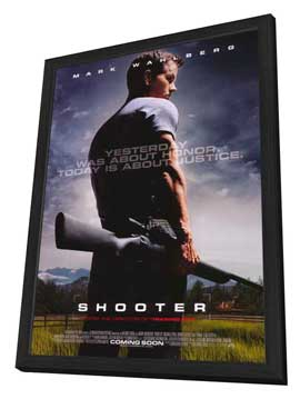 Shooter - 27 x 40 Movie Poster - Style A - in Deluxe Wood Frame