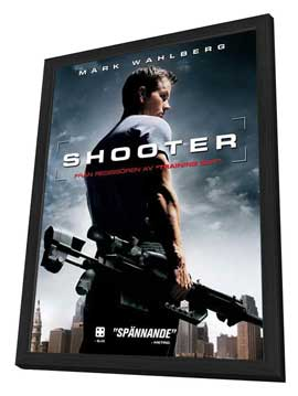 Shooter - 27 x 40 Movie Poster - Style G - in Deluxe Wood Frame