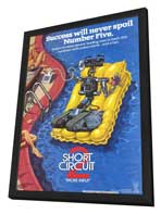 Short Circuit 2 - 27 x 40 Movie Poster - Style A - in Deluxe Wood Frame