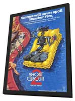 Short Circuit 2 - 11 x 17 Movie Poster - Style A - in Deluxe Wood Frame