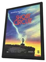 Short Circuit - 11 x 17 Movie Poster - Style B - in Deluxe Wood Frame